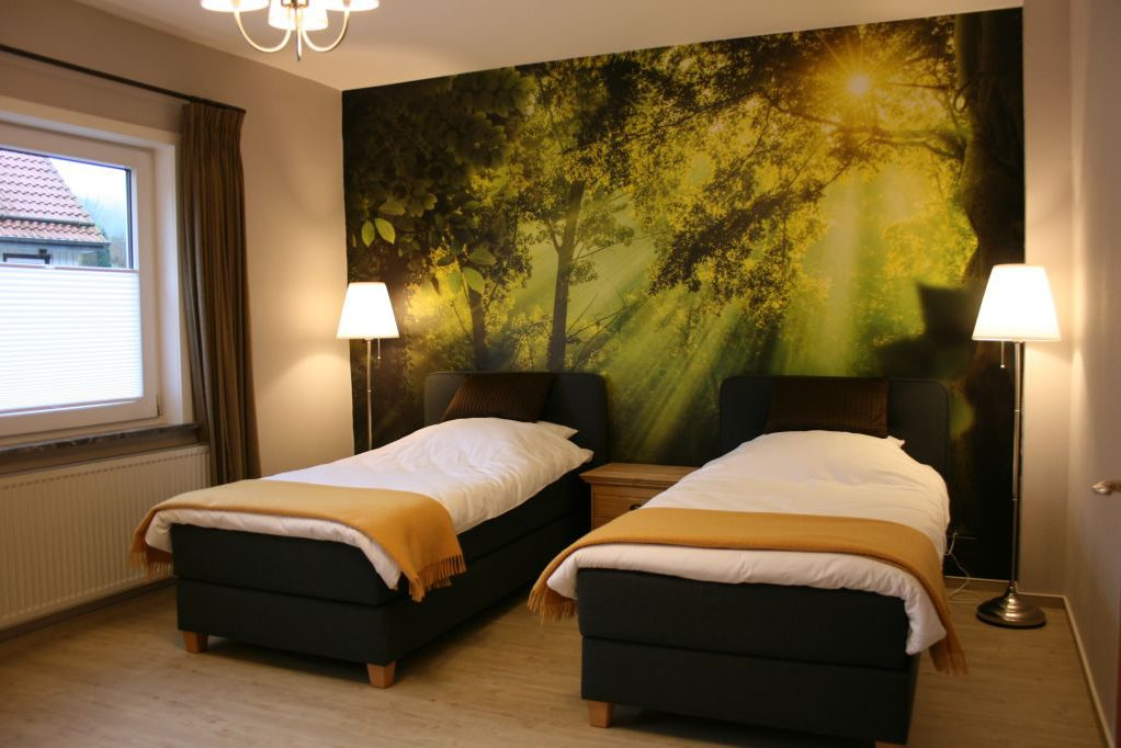 """Schlafzimmer """"Wald"""" Ferienwohnung Obere Mühle"""