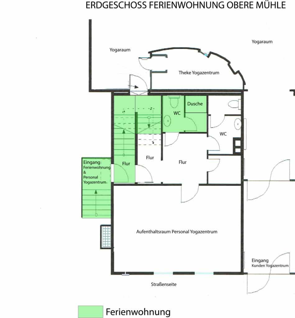 Lage Badezimmer im ErdgeschossLage Badezimmer im Erdgeschoss